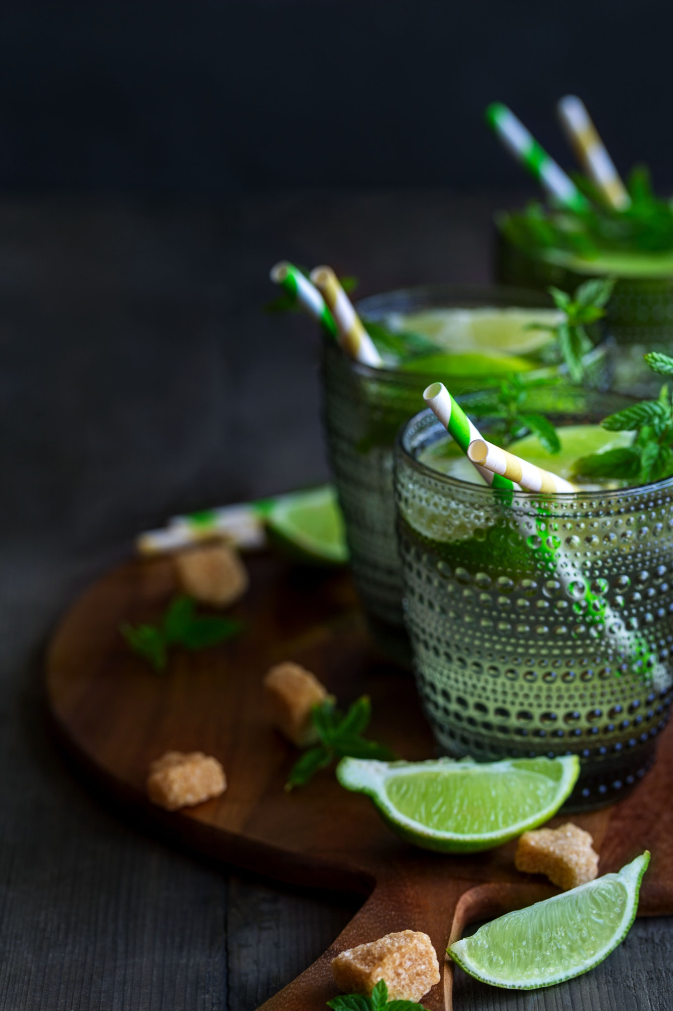 Mojito cocktail background